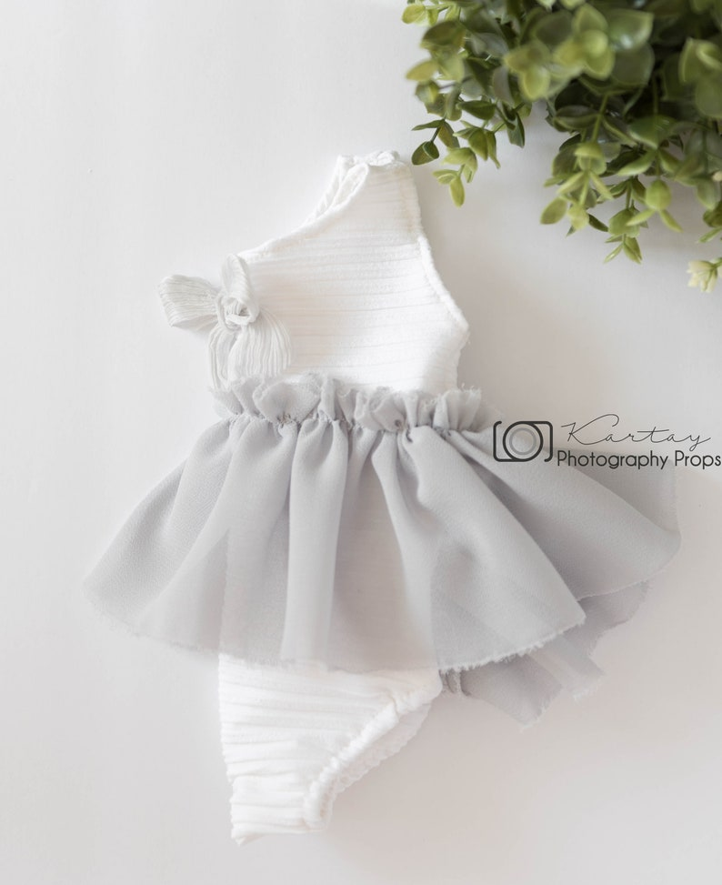 0528efa1967 Baby girl rompernewborn photography propslight grey