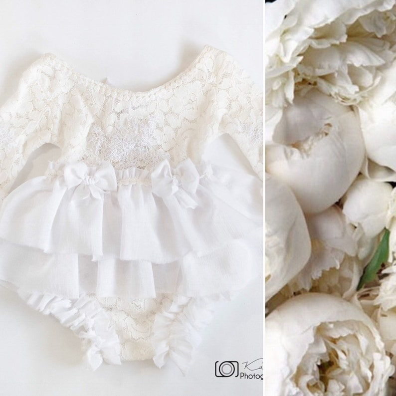 b172737a75c White romperPhotography Propsbirthday outfitsitter