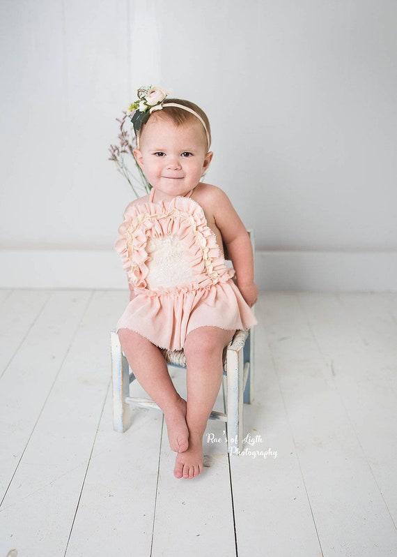 cf2f5494ba5 baby girl rompernewborn photography propslight pink
