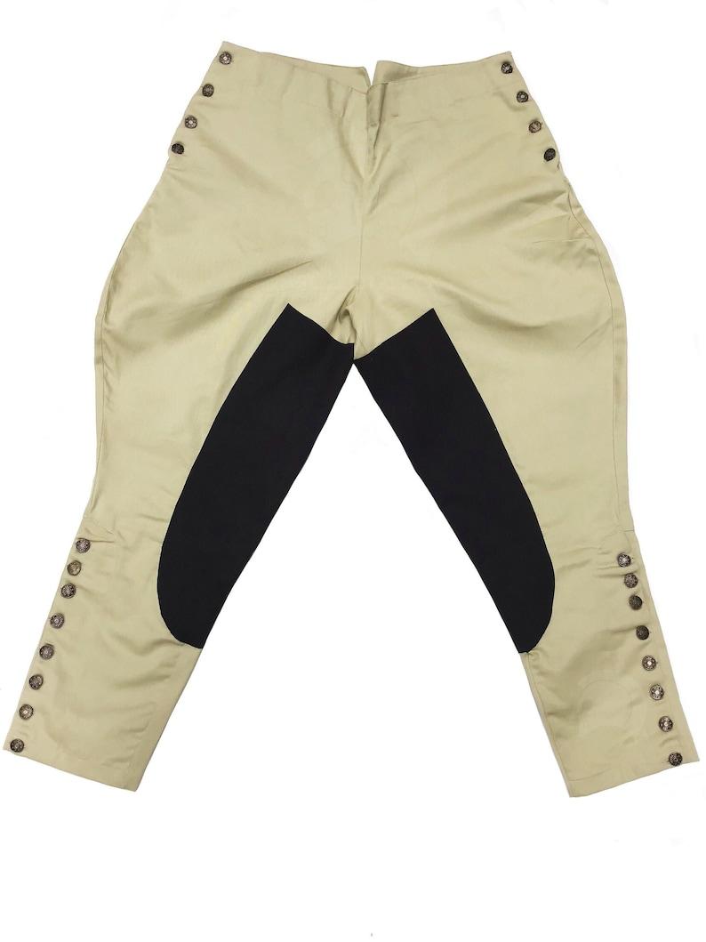 Men's Vintage Pants, Trousers, Jeans, Overalls Jodhpur Riding Breeches British Military Khaki Womens Fashion $44.99 AT vintagedancer.com