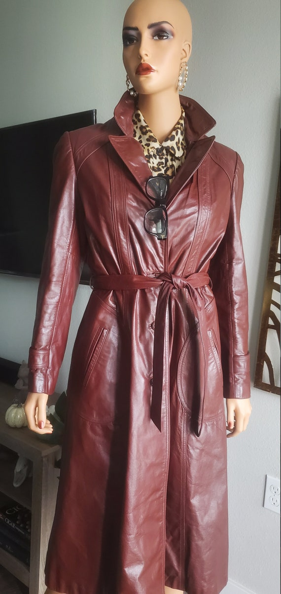 Vintage 1970s TRENCH COAT Wilson's Leather Belted