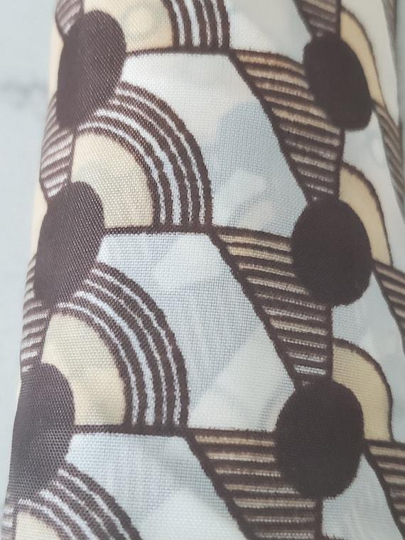 1970s  ART DECO Umbrella,  NEUTRAL Polka Dots,  M… - image 4