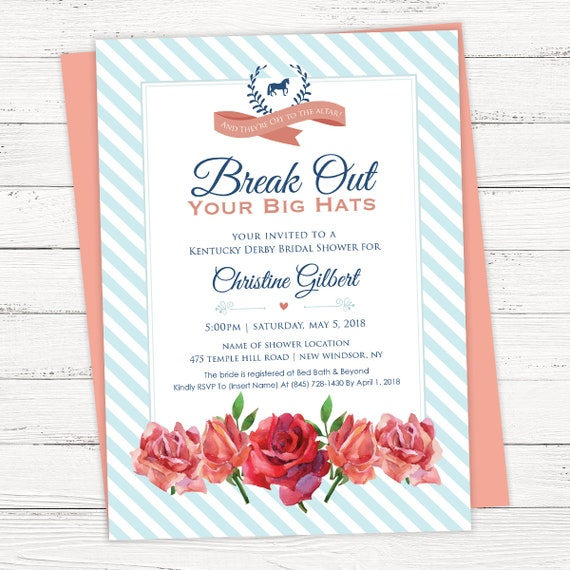 Kentucky derby bridal shower invitation instant download etsy image 0 filmwisefo