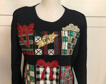 b9ab7af130e Vintage Michelle Nichole Christmas Shirt, Christmas Tunic Top, Ugly  Christmas, Ugly Sweater Party, Gaudy Embellished Christmas Top