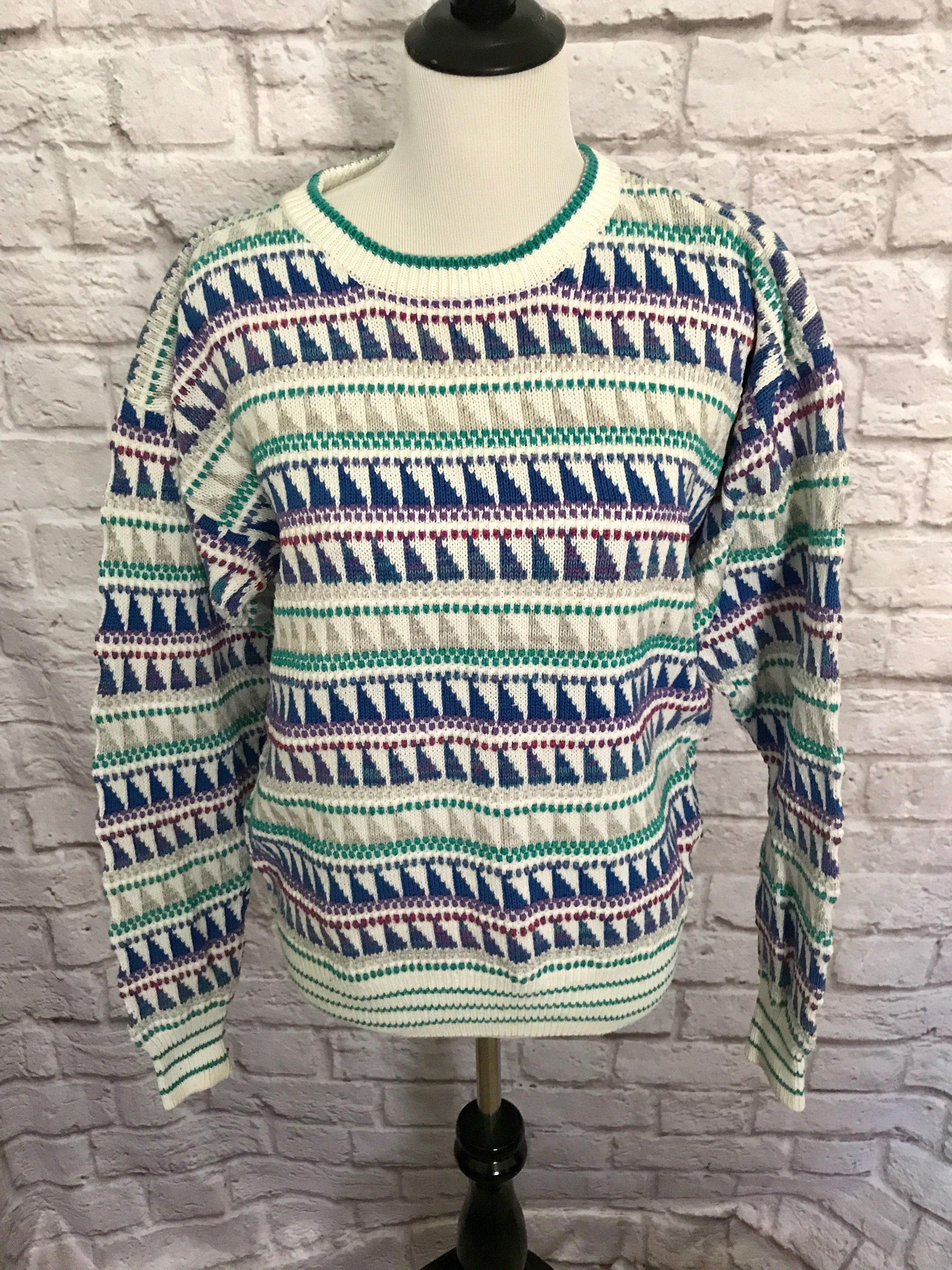 96a39ac10 Vintage Colors By Alexander Julian Sweater Oversized Sweater