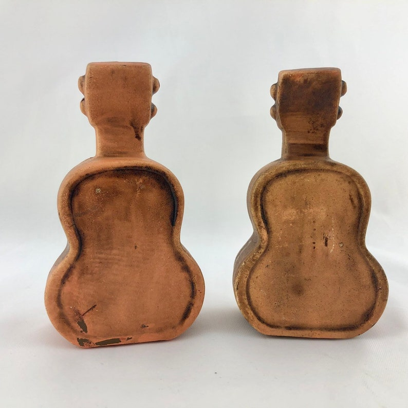 Vintage Grand Ole Opry Guitar Salt and Pepper Shakers Music Theme Decor Ceramic Salt and Pepper Shakers