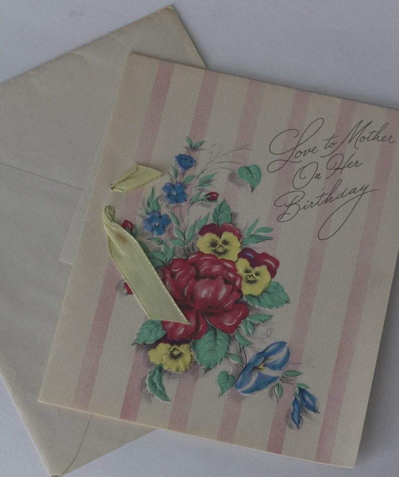 Tarjeta De Cumpleanos Del Vintage Vintage Tarjetas De Etsy
