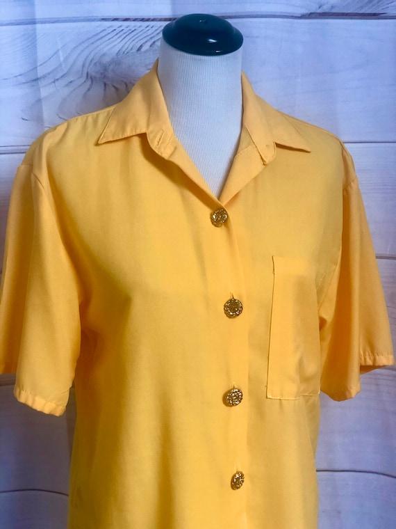 Vintage Bobbi Brooks Bright Yellow Short Sleeve Bu