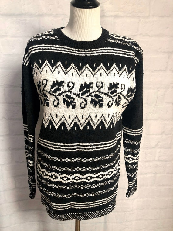 80s sweater vintage abstract sweater 80s fashion 80s vintage Liz Wear sweater