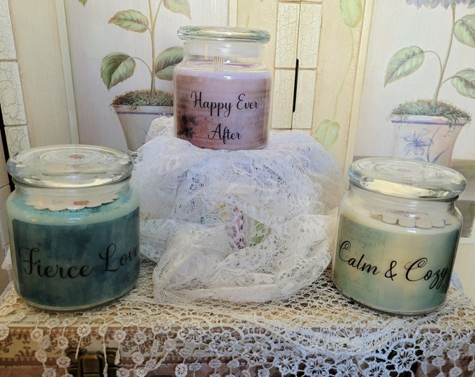 With Love Series 16oz Apothecary Candles & Wax Melts