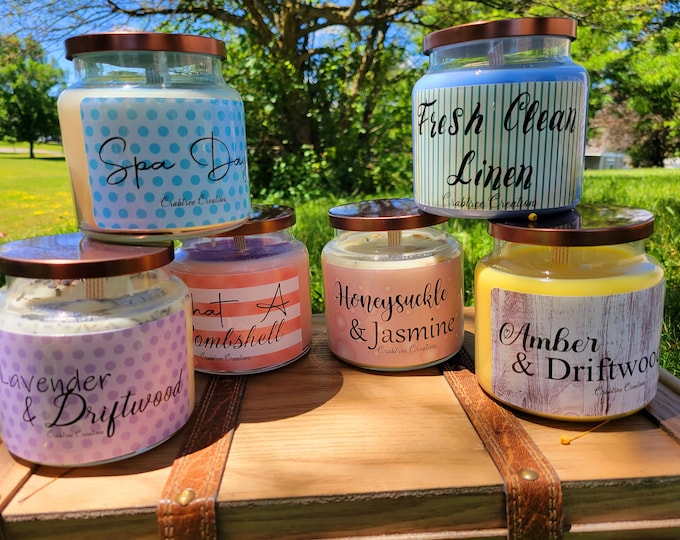 NEW!!  16oz Apothecary Candles Various Spring/Summer Scents