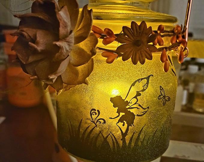 NEW!! Fall Fairy Lantern