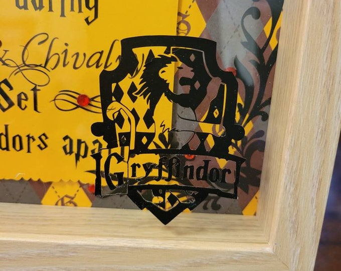 Gryffindor/Harry Potter 9x9 Shadowbox