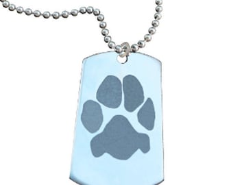 Paw Print Necklace   Your Custom Paw   Personalized with Your Pet's Paw Print and Name   Best Cat Dog Pet Lover Gift   Mother's Day