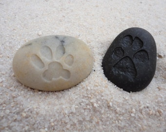 Stone Paw Print  Customized Paw Print  Best Pet Cat Dog Lover Gift  Cat Dog Pet Paw Memorial Stone  Carved Paw Print Stone  Your Paw Print