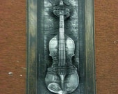 Haunted Violin in Carbonite *Original Sculpture