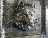 Wolf in Carbonite *Original Sculpture