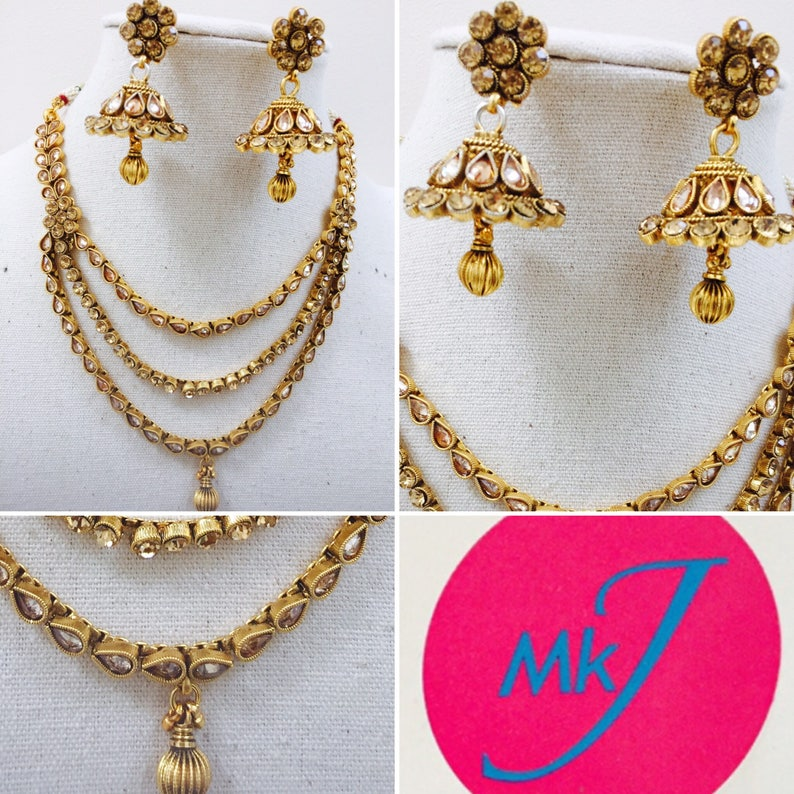 Necklace and Earrings Chumka Set image 0