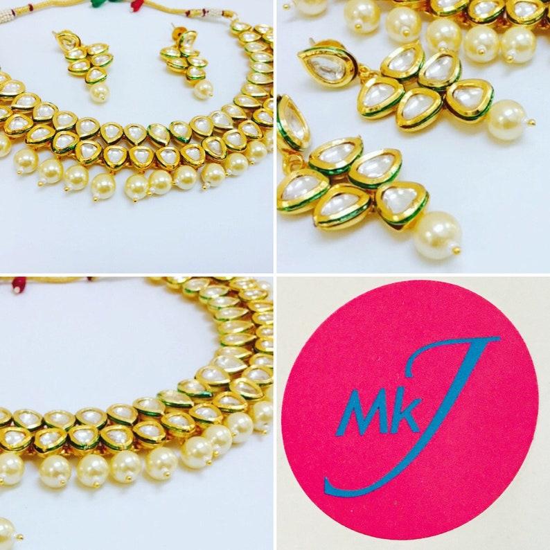 Kundan Necklace and Earrings image 0