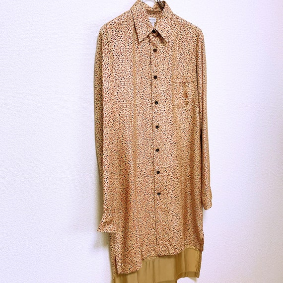 Dries Van Noten Total pattern silk long shirt dre… - image 3