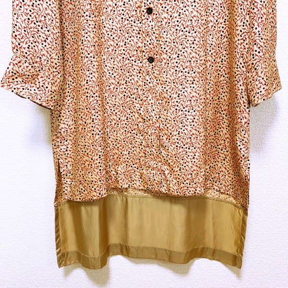 Dries Van Noten Total pattern silk long shirt dre… - image 5