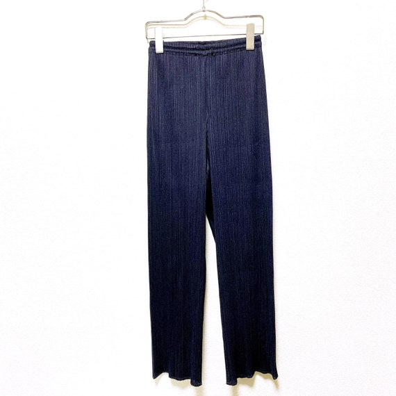 PLEATS PLEASE Issey Miyake navy color Pleated Pant