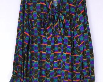 Pierre Balmain 80's-90's vintage Art bowtie shirt blouse