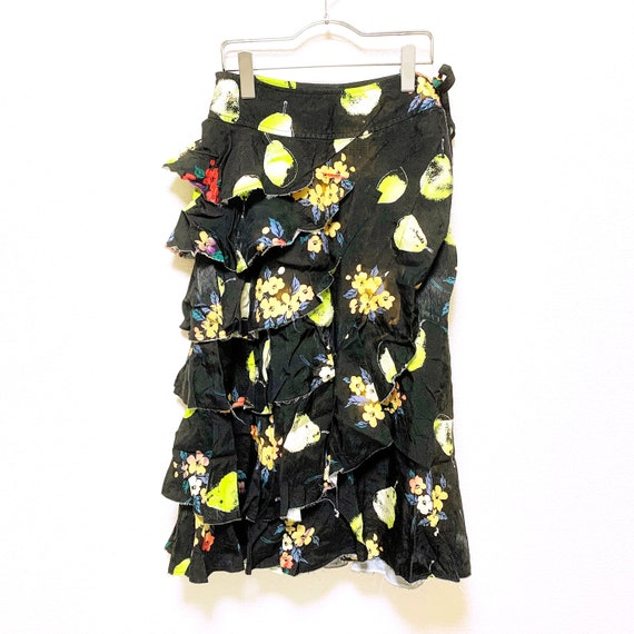 tricot Comme des Garcons Fruit flower print tiered