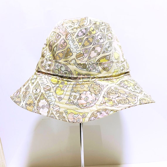 Emilio Pucci pastel color flower hat