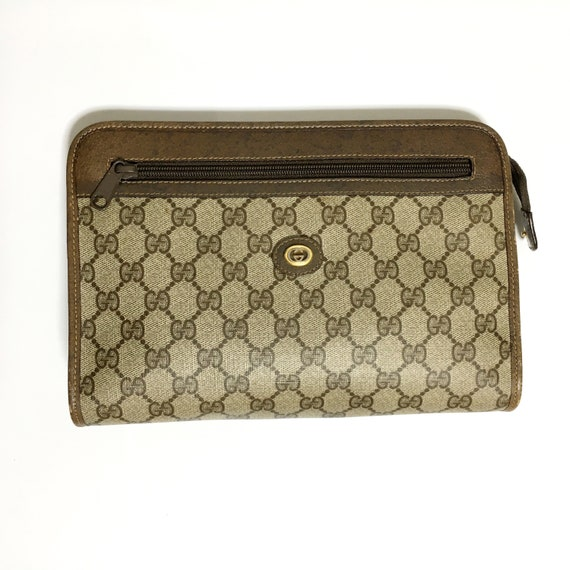 Gucci 70's-80's vintage GG Clutch bag