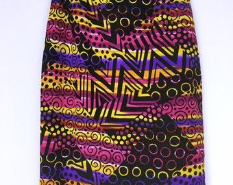 80's vintage chloe art slit skirt