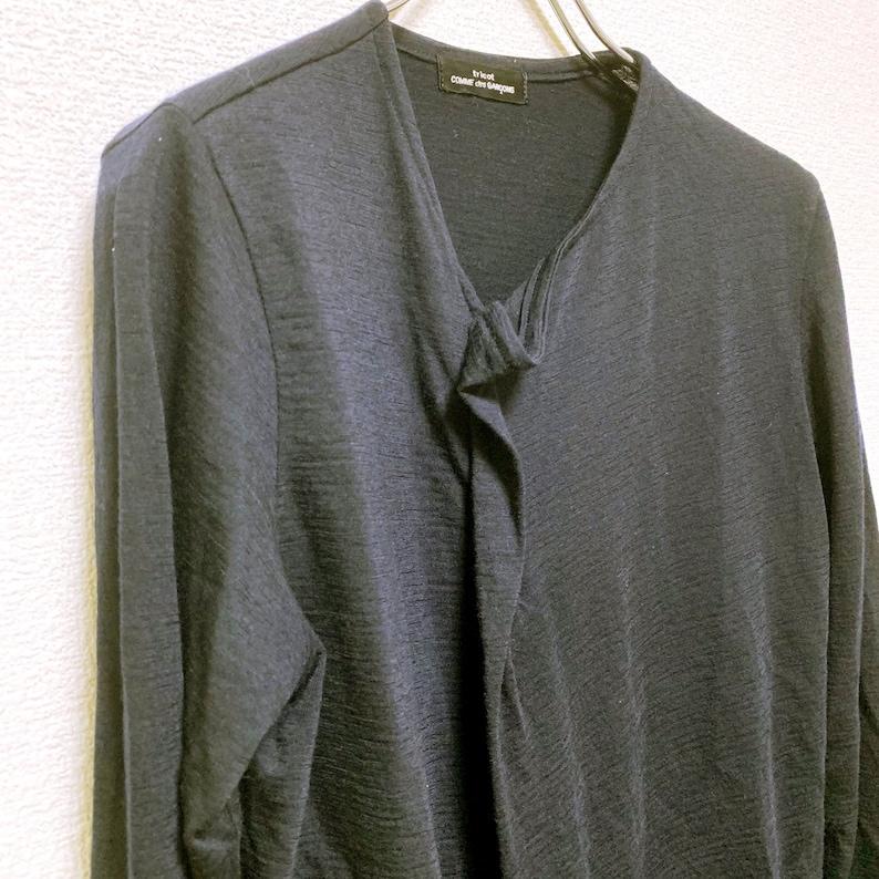 tricot Comme des Garcons vintage Paisley witching deformation design knit cardigan