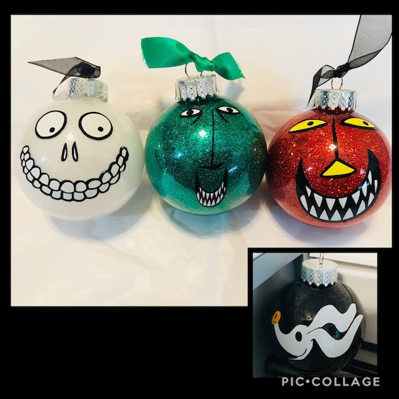 Nightmare Before Christmas Inspired Ornaments