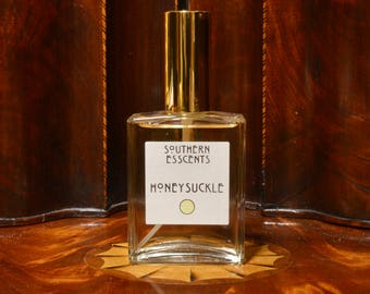 Honeysuckle Perfume - Made from essential oils extracted from fresh flowers, this sweet fragrance has a hidden surprise. Perfect Gift!