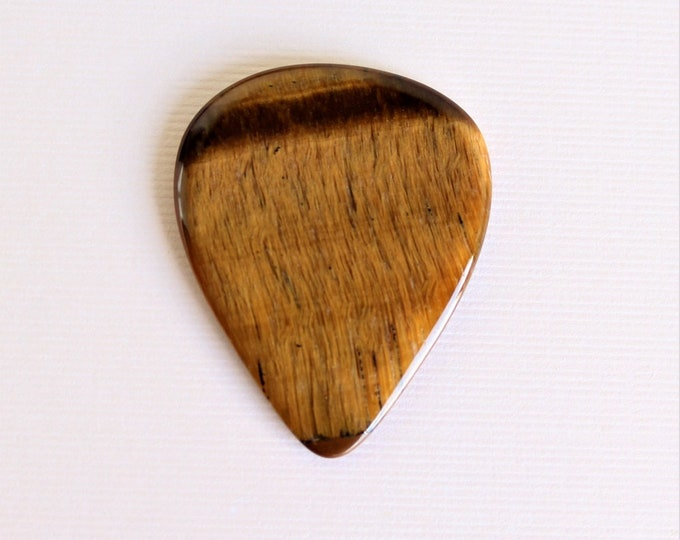 Tiger Eye Medium Gemstone Guitar Pick  item # 1158
