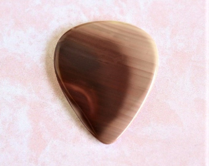 Royal Imperial Jasper Medium Gemstone guitar pick Item # 1165