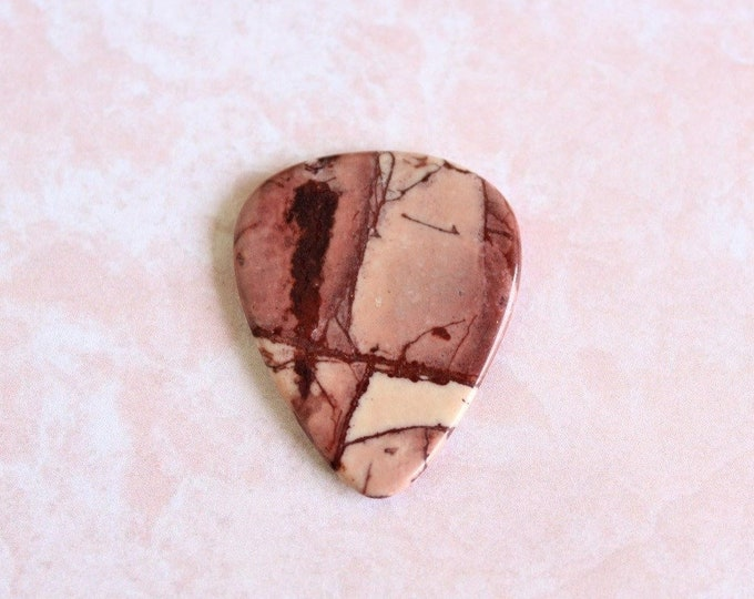 Apache Jasper Medium Stone Guitar Pick Item # 1203 - Gemstone Natural Stone Pick
