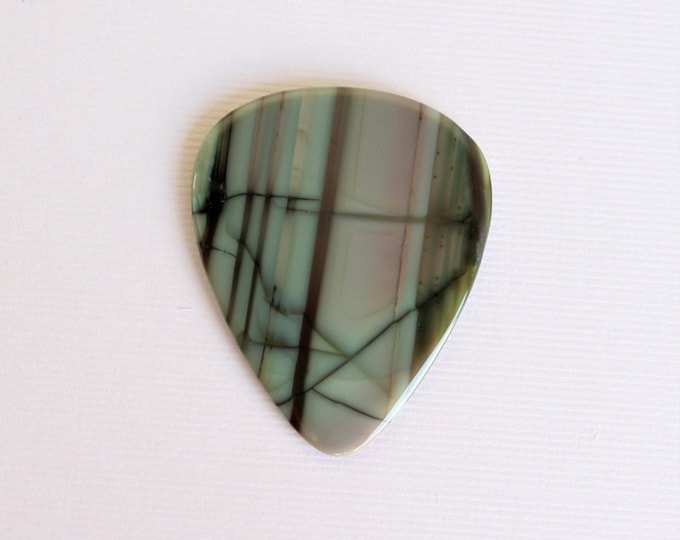 Imperial Jasper Thin Stone Guitar Pick #1388 - Gemstone Natural Stone Pick