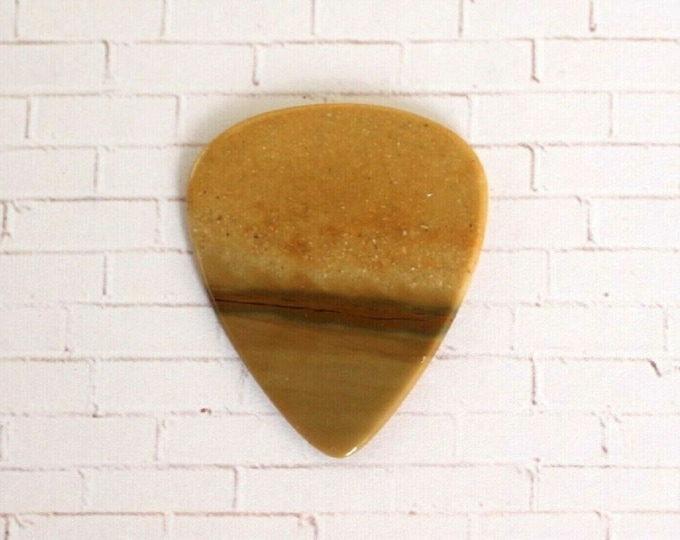 Picture Jasper Natural Stone Guitar Pick, Gemstone Guitar Pick - Thin # 1435