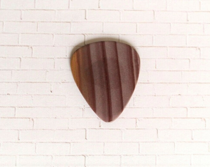 Hickoryite Thin Stone Guitar Pick #1430 Handmade Acoustic guitar player