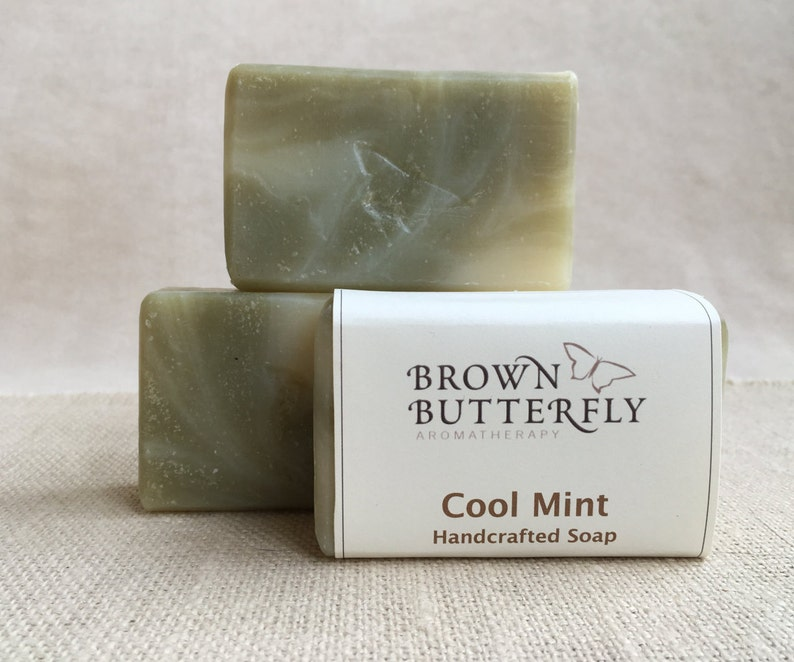Handcrafted Cool Mint Soap image 0