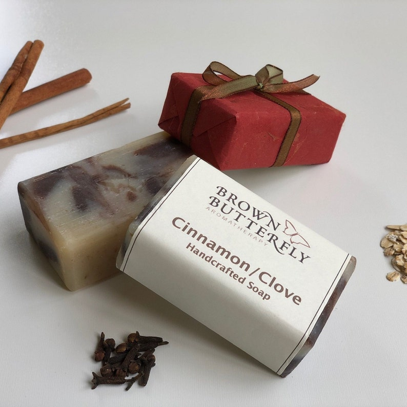 Handcrafted Cinnamon & Clove Soap image 0