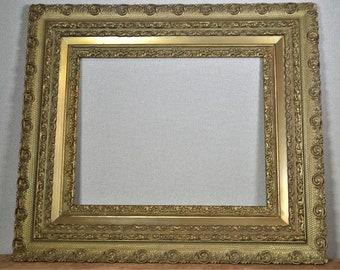 5a57fbfd8fb8 16x20 Frame Vintage Ornate Gold Wood with Optional Custom Cut Matting