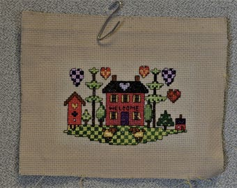Finished Cross Stitch Welcome