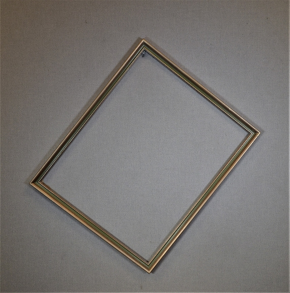 18x22 Frame Vintage Gold And Green Narrow With Optional Custom Etsy