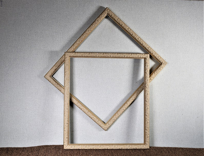 Gold Ornate Wood with Optional Glass and Custom Cut Matting Approx Size 13x15 Frame