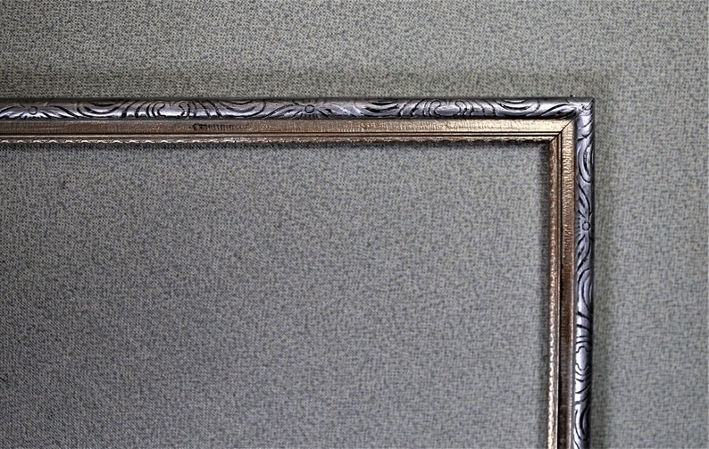 11x14 Frame Vintage Gold and Silver Ornate Narrow with Options on Glass and Custom Matting