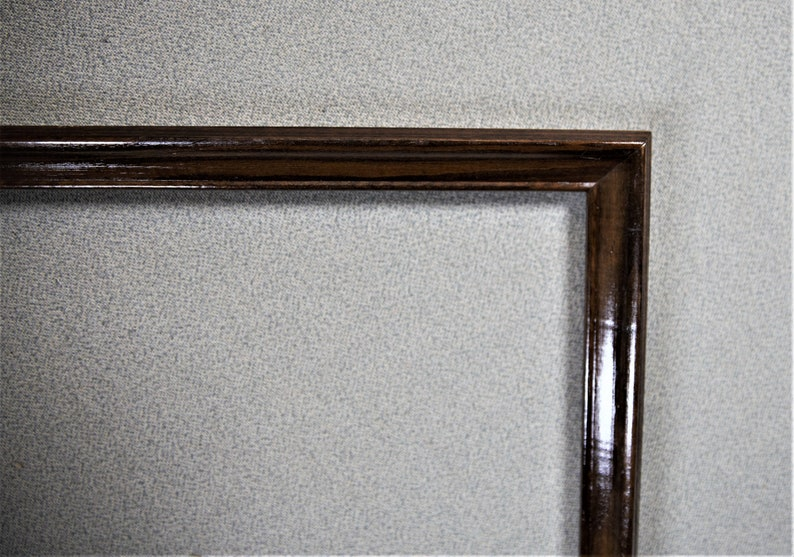 11x14 Frame Vintage Walnut Simple Plain with Options on Glass and Custom Matting