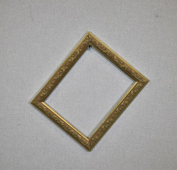 8 X 10 Frame Ornate Gold With Glass And Custom Cut Matting Etsy
