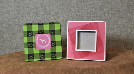 2x2 Frames Choice Dog Frame Pink And White Mini Photo Frame Etsy